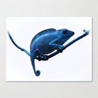 chameleon Canvas Prints featuring Chameleon by DistinctyDesign