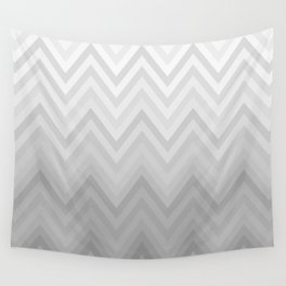 Chevron Fade Grey Wall Tapestry