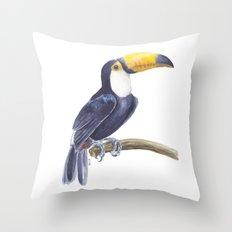 Toucan, tropical bird Throw Pillow