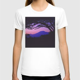 Pink-Lilac Sunrise Over Mt. Kilimanjaro (Tanzania, Africa) T-shirt