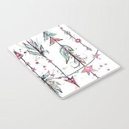 Bohemian Pink and Aqua Notebook