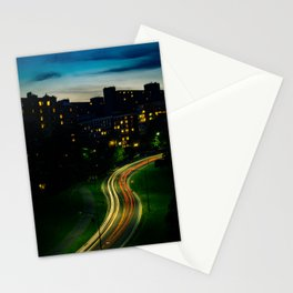 City at night Stationery Cards