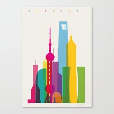 Shapes of Shanghai. Accurate to scale Canvas Print