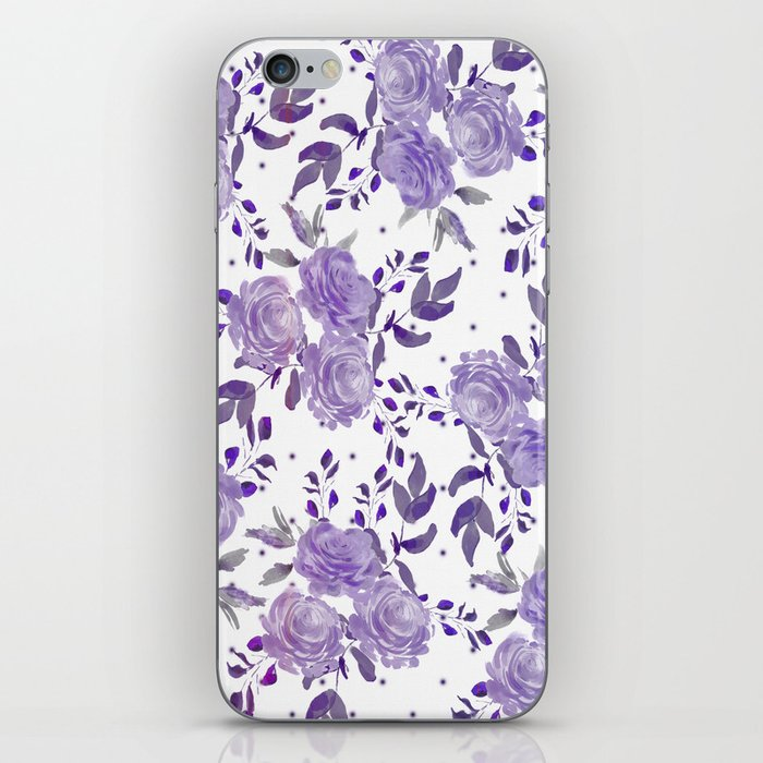 Bouquet of Purple Roses iPhone Skin