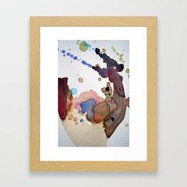 Mapping Air Framed Art Print