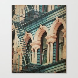The Escape - Kitschy Vintage Watercolor New York City Manhattan Canvas Print