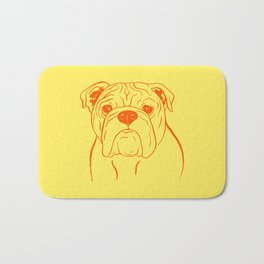 English Bulldog (Yellow and Orange) Bath Mat