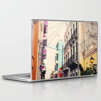 puerto rico Laptop & iPad Skins featuring Colorful Buildings of Old San Juan, Puerto Rico by Kim Fearheiley Photography