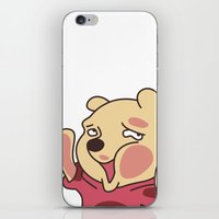 winnie the pooh iPhone & iPod Skins featuring trapped Winnie the Pooh by Stapanda