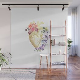 Floral Heart Anatomy  Wall Mural