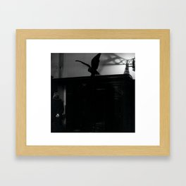 Watch Your Back Framed Art Print
