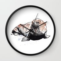 walrus Wall Clocks featuring Walrus by ZOO (William Redgrove)