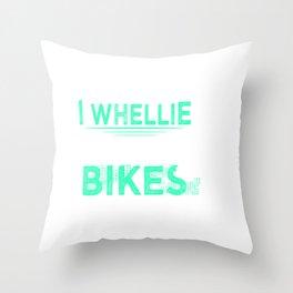 Funny Dirt Bike Out Motocross Gift Cool Dirt Bike Design Throw Pillow