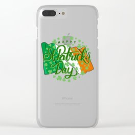 Happy St Patricks Day Irish Flag Clear iPhone Case