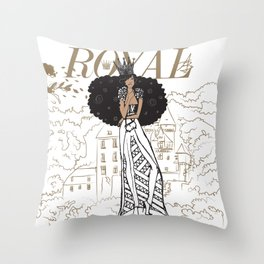 July Royal Throw Pillow