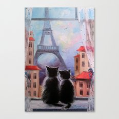 Parisians Canvas Print