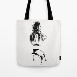 A Woman's Figure Tote Bag