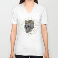 stay gold V-neck T-shirts featuring stay gold by Laura Graves