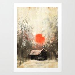 Winter Landscape Art Print