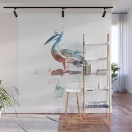 Pelican / Abstract animal portrait. Wall Mural