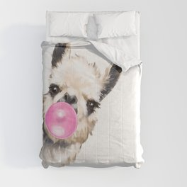 Bubble Gum Sneaky Llama Comforters