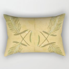 Full Peacock Feathers Rectangular Pillow