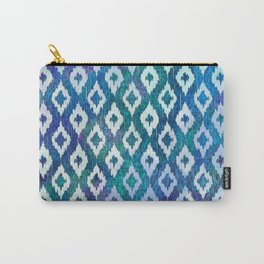 Jewel Ikat Pattern Carry-All Pouch