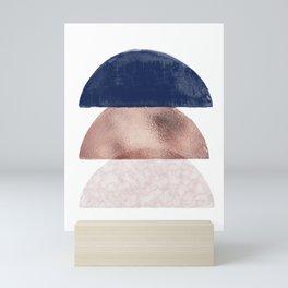 Semicircle geometric I Mini Art Print