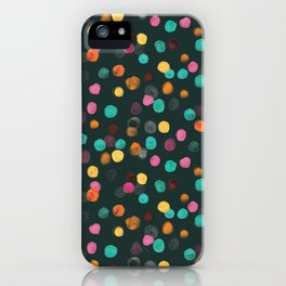 Painted Polka iPhone Case