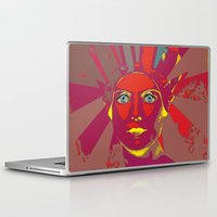 medusa Laptop & iPad Skins featuring MEDUSA by Julia Lillard Art