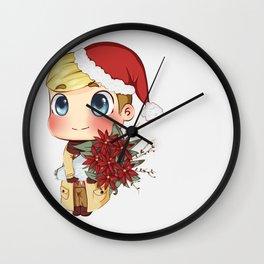 Christmas Erwin Wishes Wall Clock