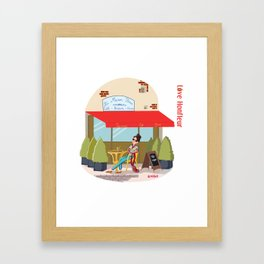 Love Honfleur Framed Art Print