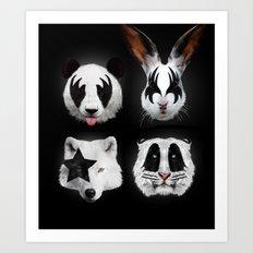 Kiss of animals Art Print