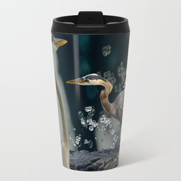 Great blue herons Travel Mug