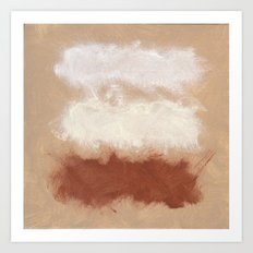 Rothko Inspired Spiced Berry Canyon Dusk 001 Mixed Stripe Modern Art Comforter Pillow #society6 Art Print