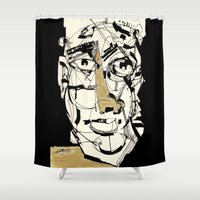 golden Shower Curtains featuring Golden by 5wingerone