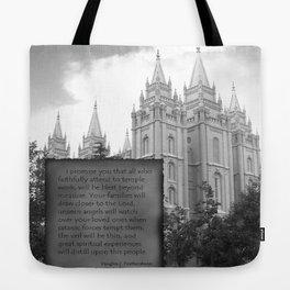 LDS Salt Lake Temple Tote Bag