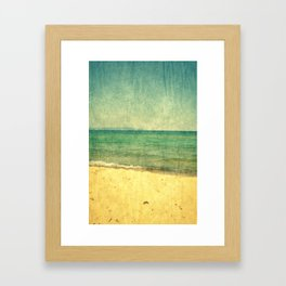 Seascape Vertical Abstract Framed Art Print