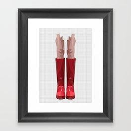 My lovely rain booths Framed Art Print