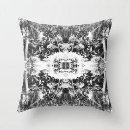 Black n White Boho Pattern Throw Pillow