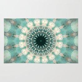 Sea Foam Bohemian Mandala Design Rug