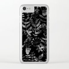 Abstract Botanical Garden V Clear iPhone Case