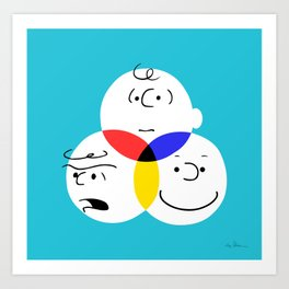 Charlie Brown, colour wheel Art Print
