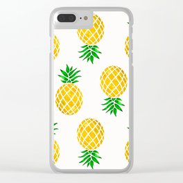 Beautiful Pineapple Pattern Clear iPhone Case