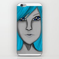 no face iPhone & iPod Skins featuring Face by LCMedia