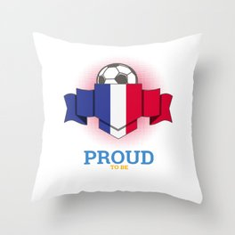 Football French France Soccer Team Sports Footballer Goalie Rugby Gift Throw Pillow