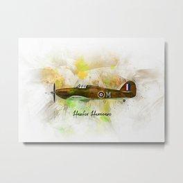 Hawker Hurricane Metal Print