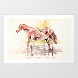 Manetti Shrem Horse Sculpture Art Print