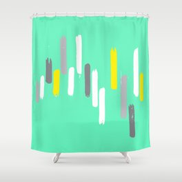 neon stumps - seafoam Shower Curtain