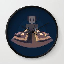 DJ Voxel - discjockey logo Wall Clock
